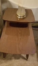 Vintage lamp table. Manufacturer unknown. Asking $25.00 each.