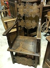 Carved French chair