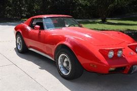 1976 Red Corvette T-top.  Asking 13,000.