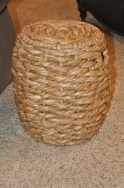 "Wonderful woven Jute Rope small 13"" round side table"