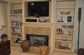 "DVDs, CD's, home decor and a Samsung 40"" flat screen TV available"