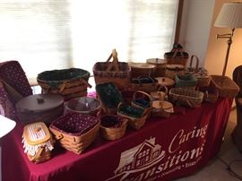 Some of the many Longaberger Baskets.