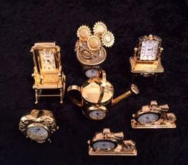 Gold Metal Clocks