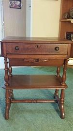 Wooden sewing table (Victorian) $300