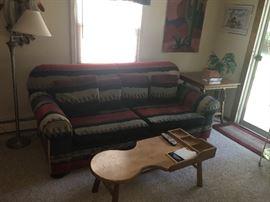 Southwestern style sofa & home decor
