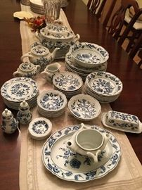 Blue Danube dishes - will be solid individually.