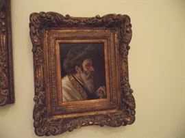 Rabbi portrait, oil on board, M. Wysocki