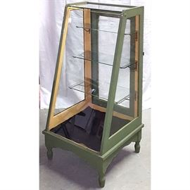Furniture Slat Front Display Cabinet