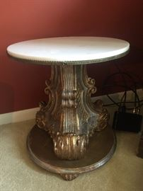 Antique table w/ marble top SOLD