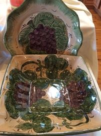 "Assorted ""vino"" serveware"