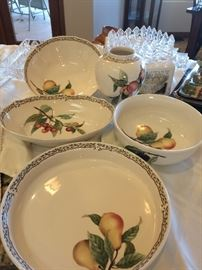 Second china service for 12 with serving dishes