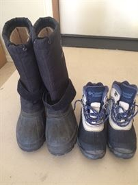 Assorted men's and women's boots