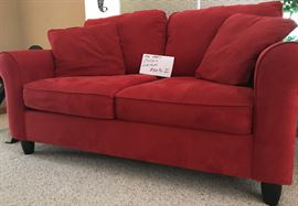 Red love seat & couch-$400 for both.