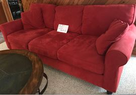 Red love seat & couch-$400 for both