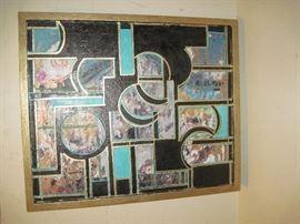 paint on canvas framed