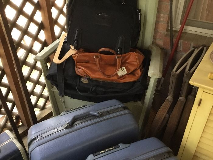 More newer and vintage suitcases
