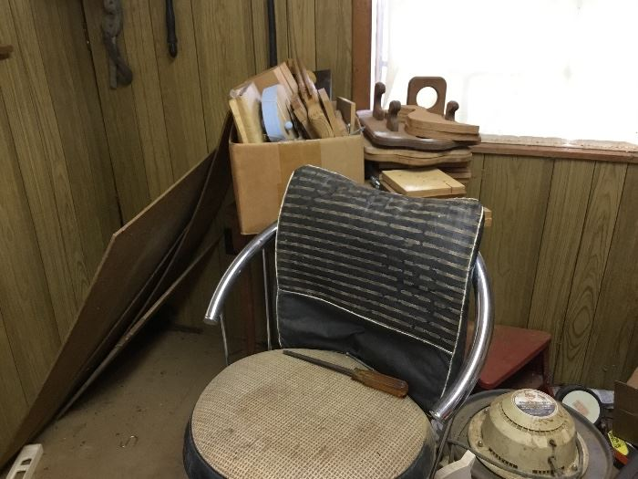 Chair in tool shed