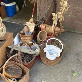 Baskets, clock, more items from storage