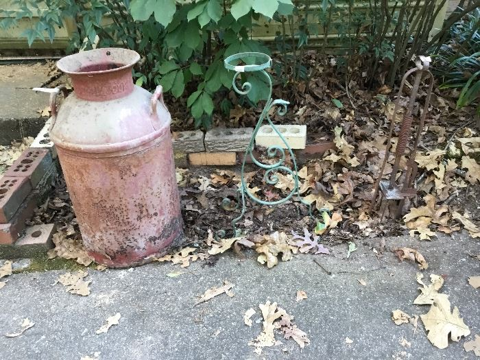 Vintage milk can & more