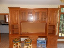 custom built Kitchen Hutch Desk Office
