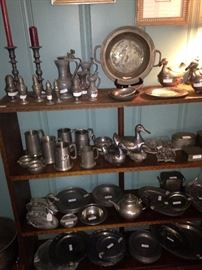 Huge selection of pewter