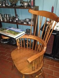 Antique maple Windsor chair