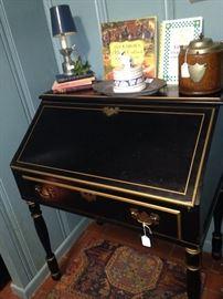 Black (with gold trim) secretary