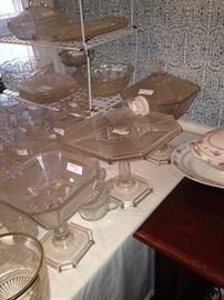 Vintage cake plates and bowls