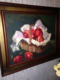 Apple art by K.H. Jones