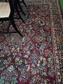 Approximaately 9 feet by 12 feet rug