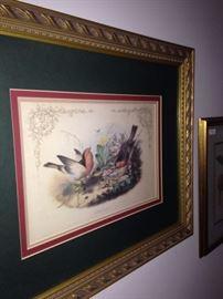 """""""Redbreast"""" framed art"""