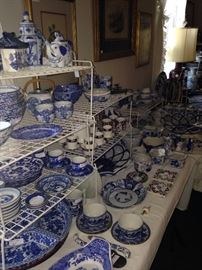 Some of the many fabulous blue & white selections