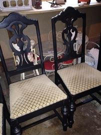 Two of six matching chairs