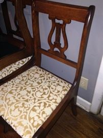 One of six matching chairs