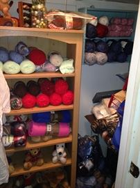 Some of the mannnnnnny skeins of yarn