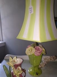 Aborable lime & pink lamp