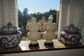 Fabulous covered ginger jars large