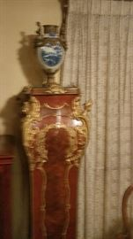 Pair of large french gilded stands