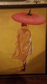 Large unusual painting of a monk