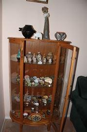 Curio cabinet and collector pieces