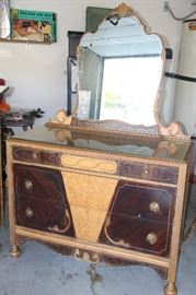 100 year old Art Deco Style Bureau with mirror. Gorgeous. Been in same family for 100 years. 1 of 3 pieces.