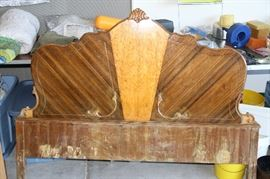 Art Deco Head Board. 100 years old. 1 of 3 pieces. Rare find!