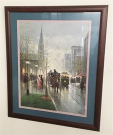 Signed Framed numbered G. Harvey
