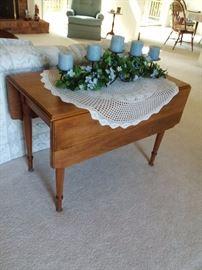 Cherry drop leaf table $95