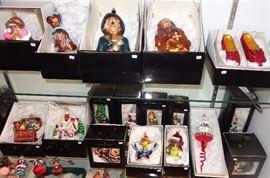 Radko ornaments; 150+