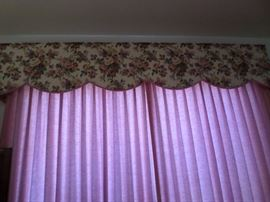Valances and Matching King Bedspread