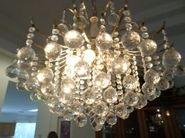 Crystal Chandelier-gold plated hardware