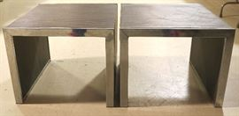 Cubist pair rosewood tables