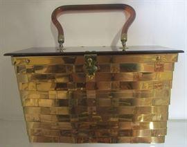 Signed vintage bakelite handbag
