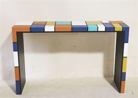 Geometric design sofa table